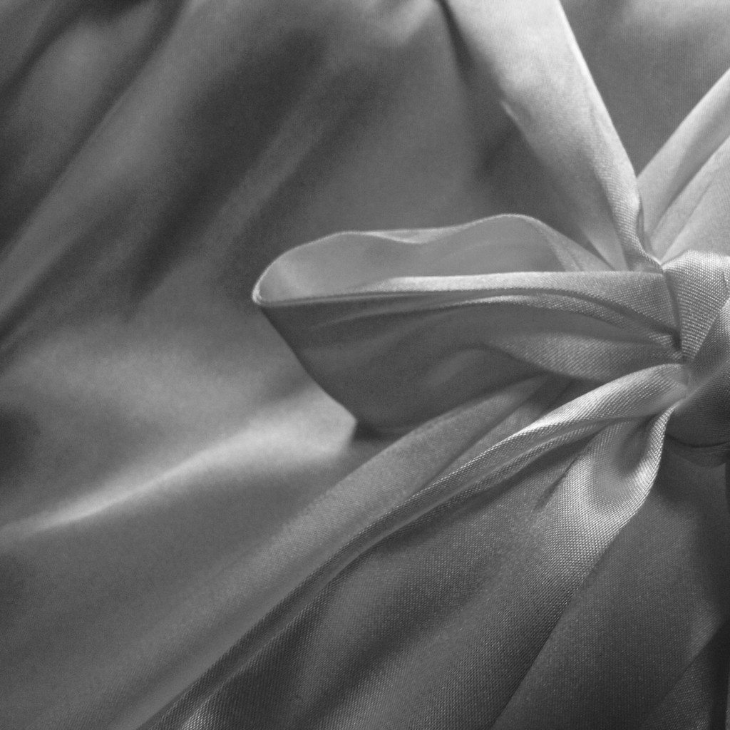 Photograph of satin bow